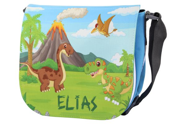Kindergartentasche mit Name Dinosaurier