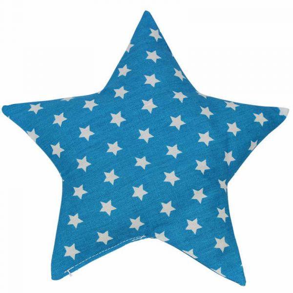 Traubenkernkissen Sterne hellblau