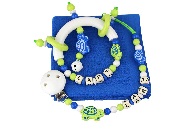 Geschenkset Schildkröte blau:lemon