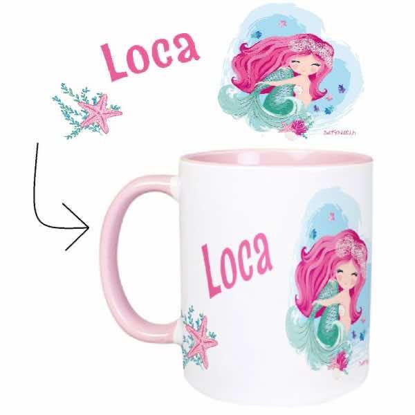 Tasse mit Name Meerjungfrau