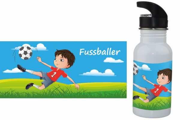 Trinkflasche mit Name Fussballer
