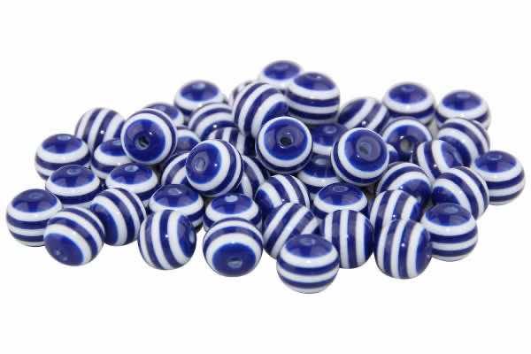 Streifenperlen dunkelblau