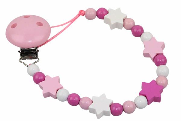 Nuggikette ohne Name: Sternchen rosa
