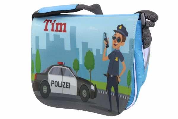 Kindergartentasche mit Name Polizei