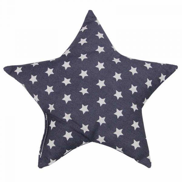 Traubenkernkissen Sterne dunkelgrau