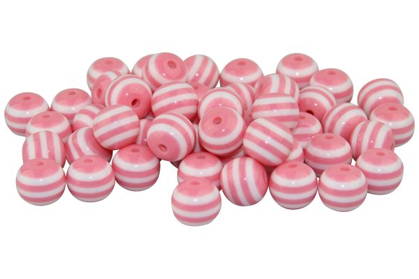 Streifenperlen rosa