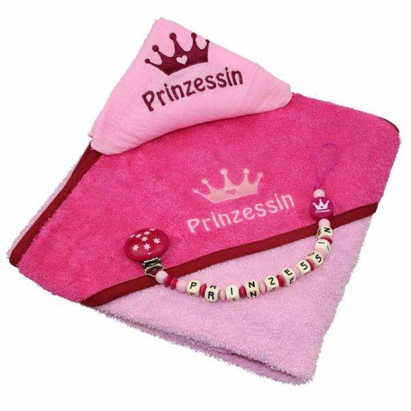 Kapuzentuchset Prinzessin mit Name