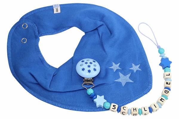 Dreieckstuchset Sternchen blau:türkis