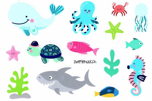 Sticker Unterwasser, DIN A5