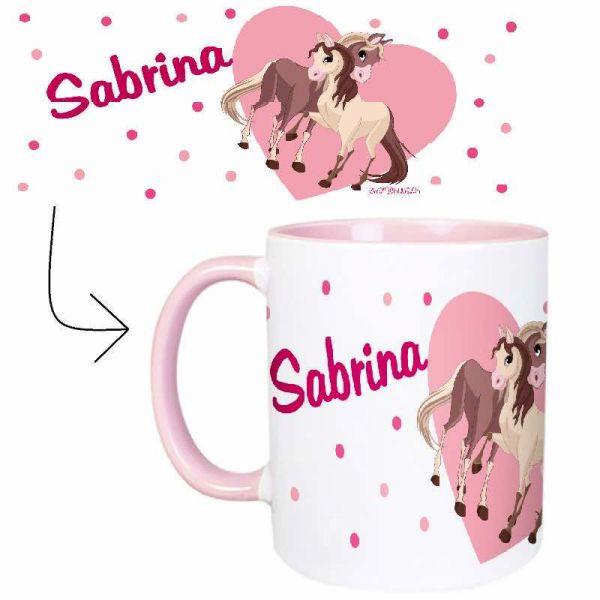 Tasse mit Name Pferde