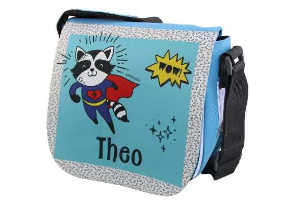 Kindergartentasche mit Name Superhelden