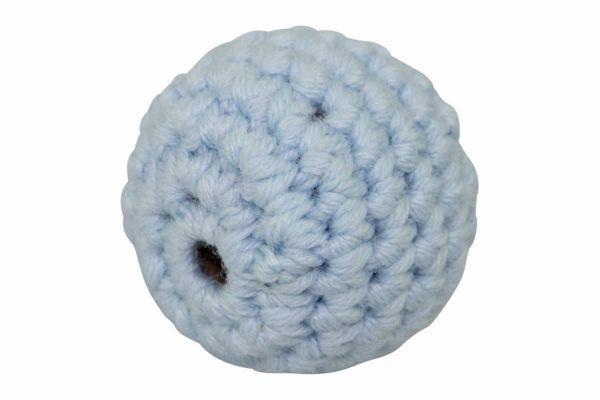 Häkelperlen babyblau