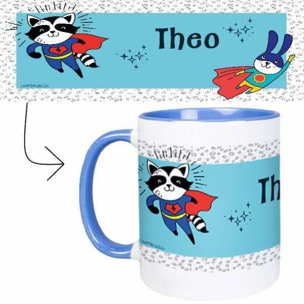 Tasse mit Name Superhelden