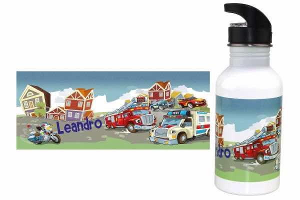 Trinkflasche mit Name Feuerwehr