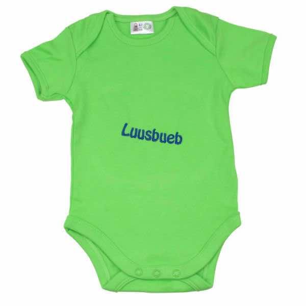Babybody apfelgrün bestickt mit Name