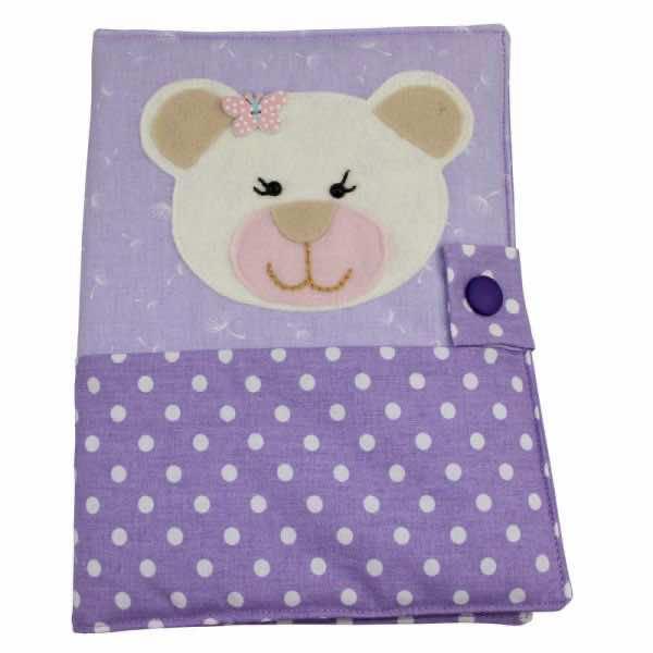 Schutzhülle für Gesundheitsheft Bär lila