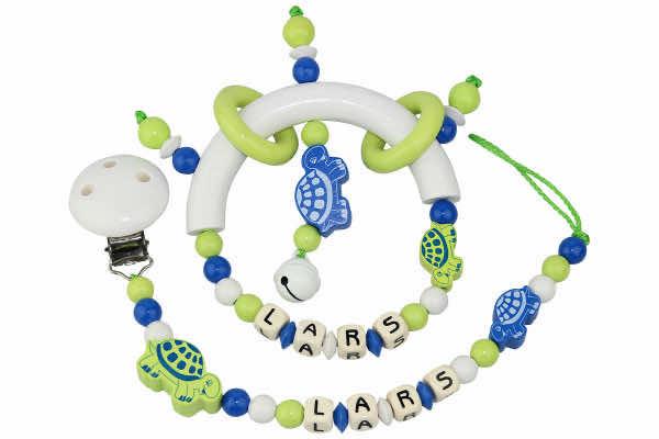 Geschenkset Schildkrötenduo lemon:blau