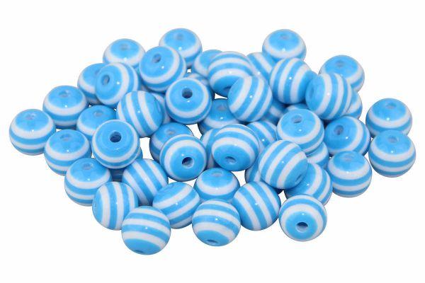 Streifenperlen hellblau