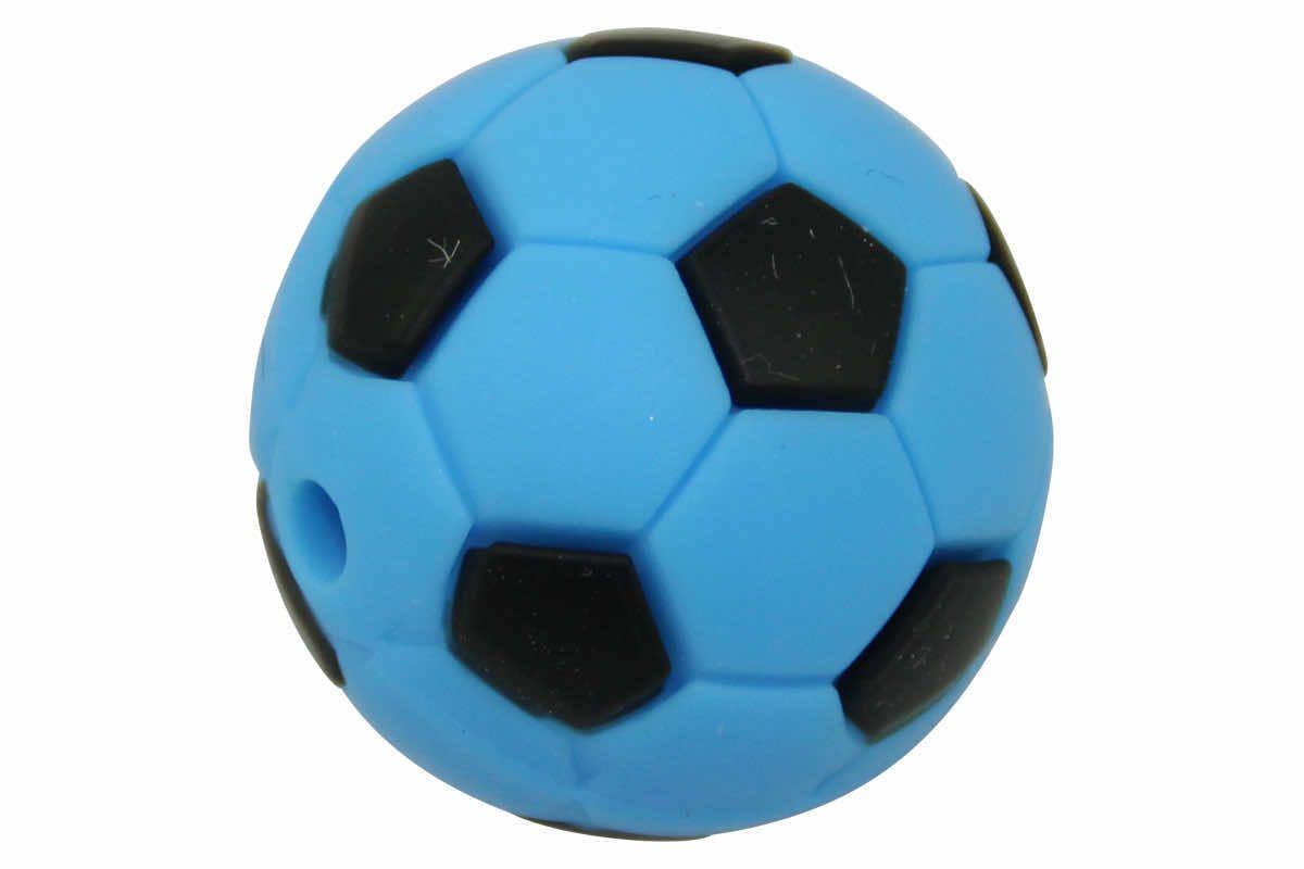 Silikonperle Fussball 19mm