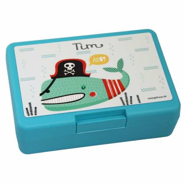 Brotbox mit Name Piratenfisch