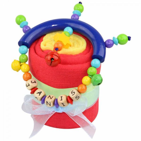 Cupcake Regenbogen mit Greifling