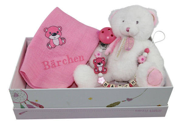 Geschenkschachtel Teddy rosa