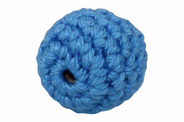 Häkelperlen hellblau