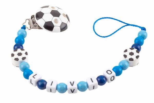 Nuggikette mit Name Fussball blau