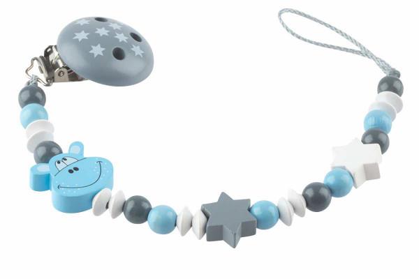 Nuggikette ohne Name: Hippo grau:blau