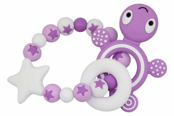 Beissgreifling Sternenmix mit Schildkröte purple:weiss