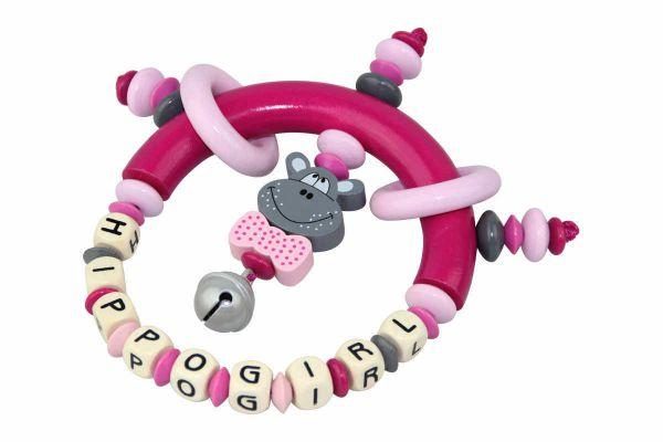 Greifling Hippo pink