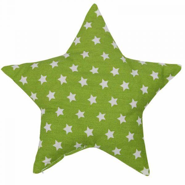 Traubenkernkissen Sterne grün
