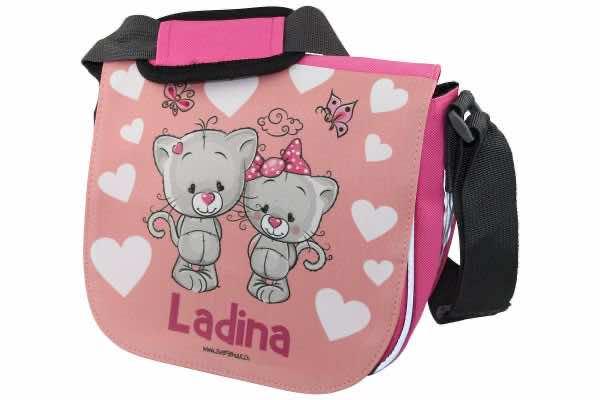Kindergartentasche mit Name Kätzchen