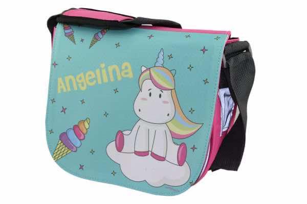Kindergartentasche mit Name Glace Einhorn
