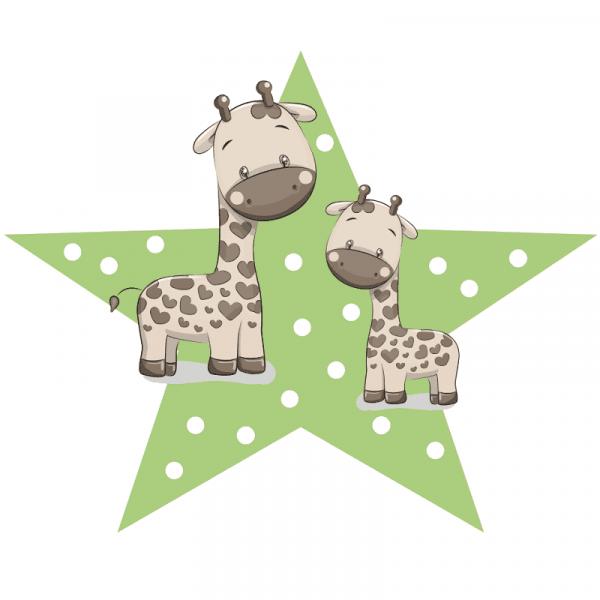 Aufkleber Giraffe klein
