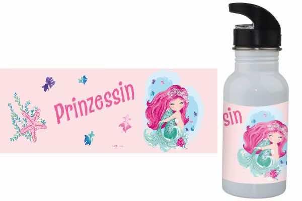 Trinkflasche mit Name Meerjungfrau