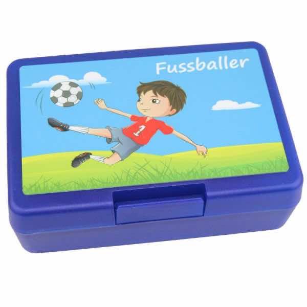 Brotbox mit Name Fussballer