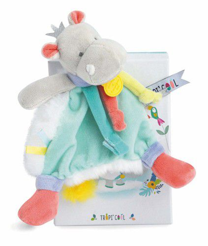 Doudou Kuscheltier Hippo mit Schnullerhalter
