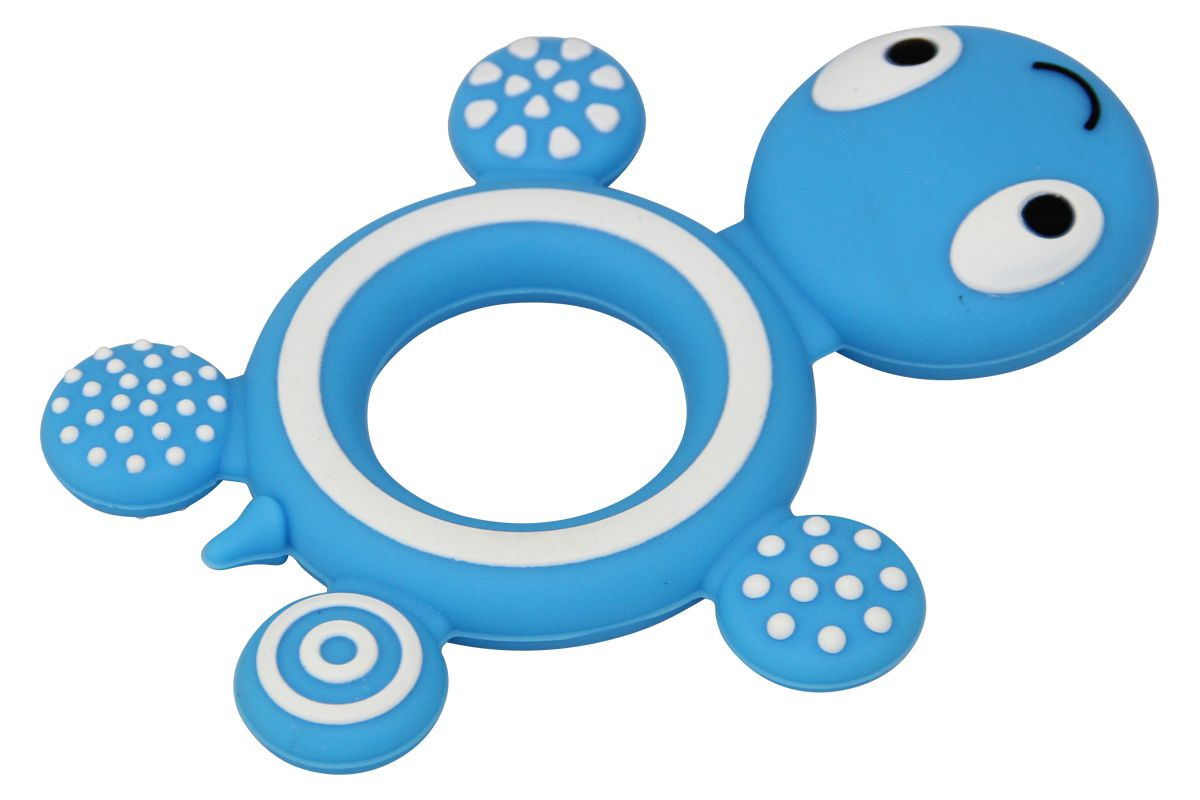 Silikon Greifling Schildkröte rund