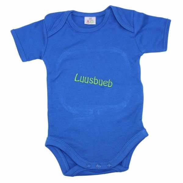 Babybody royalblau bestickt mit Name